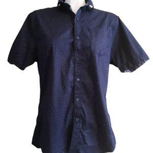 Ike Behar | stretch short sleeve button up shirt
